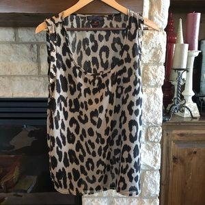 Rock & Roll Cowgirl Studded Leopard Sheer Top